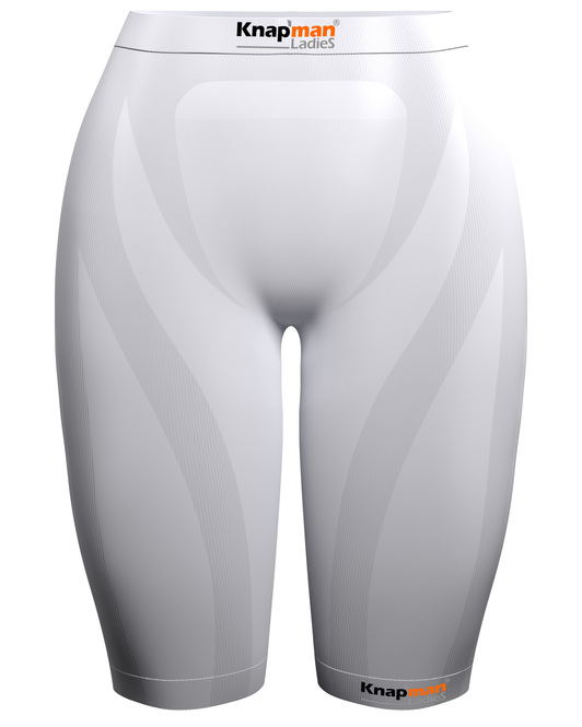 Knap'man Ladies Zoned Compression Shorts 45% weiß