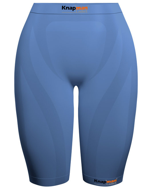 Knap'man Ladies Zoned Compression Shorts 45% light blue